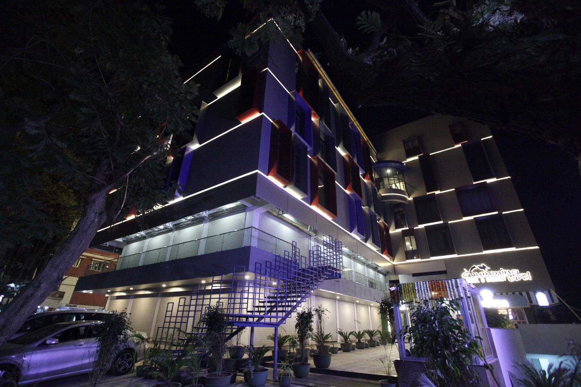 Hummingbird hotel and banquet night view