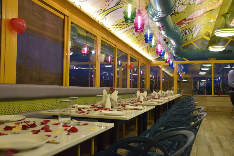 valentine day decoration at global falcon restaurant
