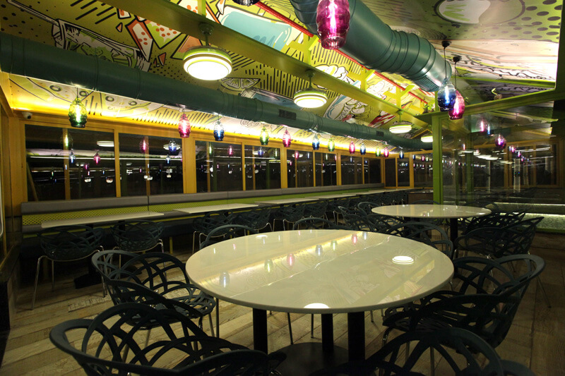 Family dine in at global falcon restaurant