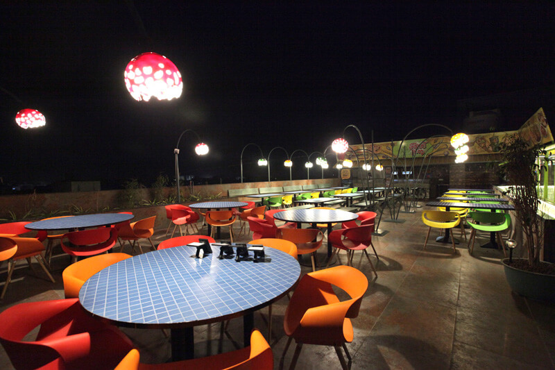 falcon roof top restaurant in anand