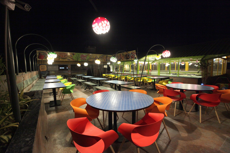 night view of global falcon restaurant