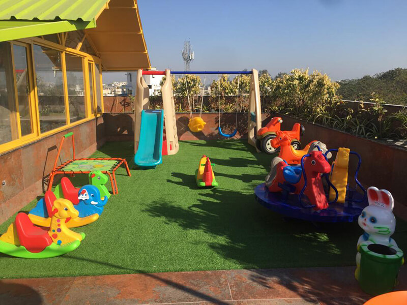 kids play area at humming bird hotel