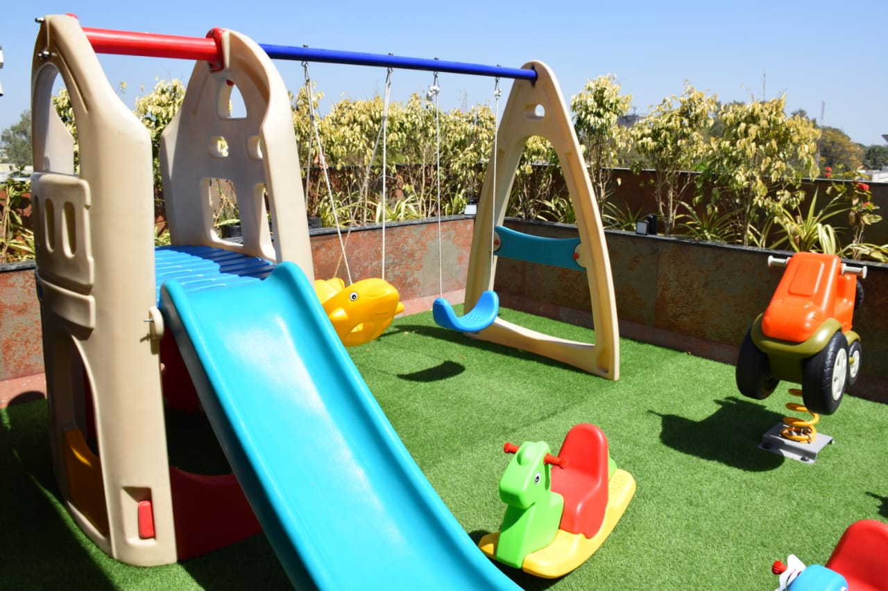 Kids Slide at terrace by hummingbird hotel