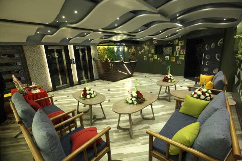 Reception area  hummingbird hotel and banquet